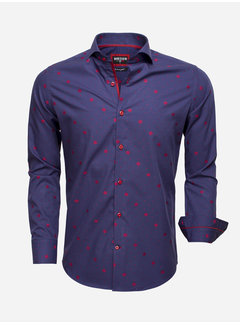 Wam Denim Overhemd Lange Mouw 75528 Navy
