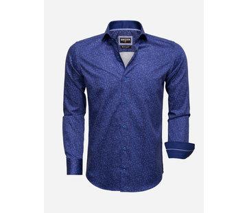 Wam Denim Shirt Long Sleeve 75527 Navy Royal Blue