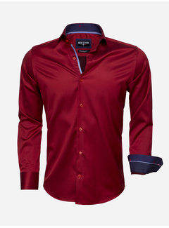 Wam Denim Overhemd  Lange Mouw 75529 Dark Red