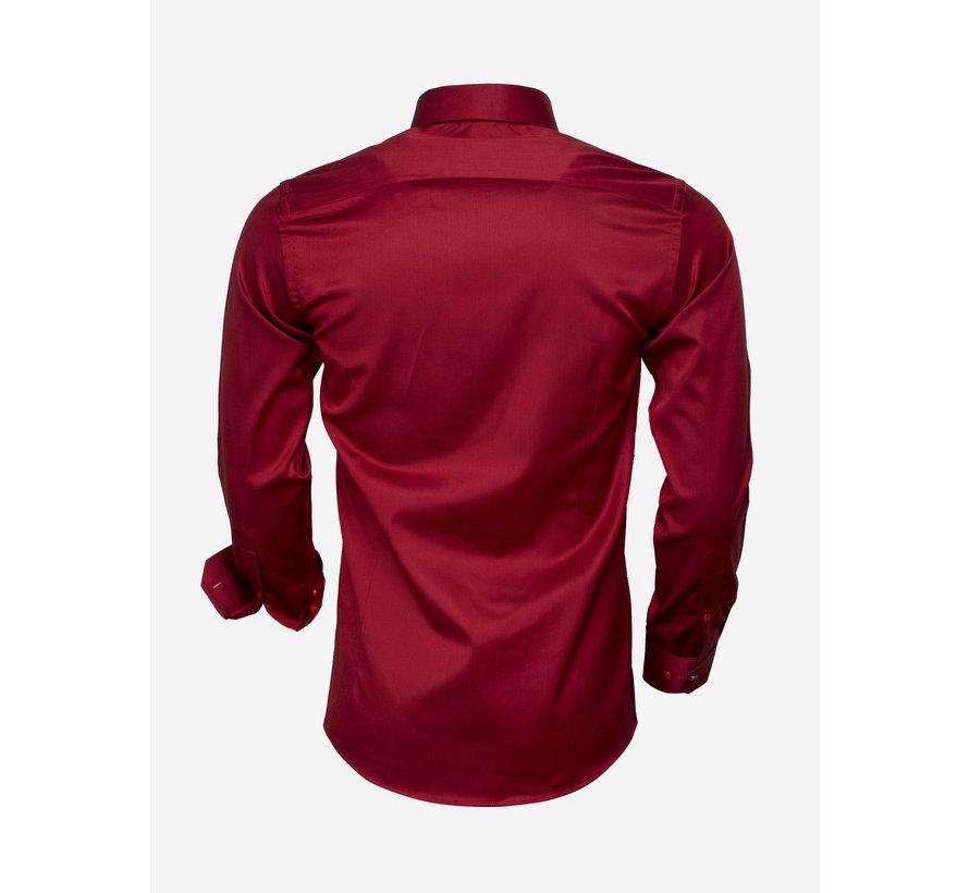 Overhemd  Lange Mouw 75529 Dark Red