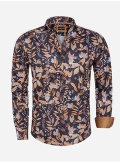 Wam Denim Overhemd Lange Mouw 75564 Perugia Brown