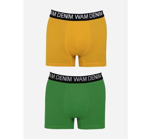 Wam Denim Boxer Milton  Dark Yellow Petrol 2Pack
