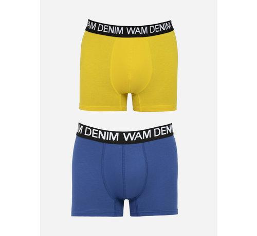 Wam Denim Boxer Milton  Royal Blue Yellow 2Pack