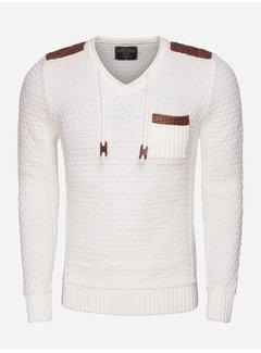 Wam Denim Sweater 77037 Off White