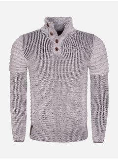 Wam Denim Sweater 77067 Off White Navy