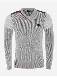 Wam Denim Sweater 77510 Cancun Off White Brown