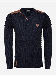 Wam Denim Sweater 77510 Cancun Navy Indigo