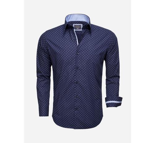Arya Boy Overhemd Lange Mouw 85279 Navy Blue