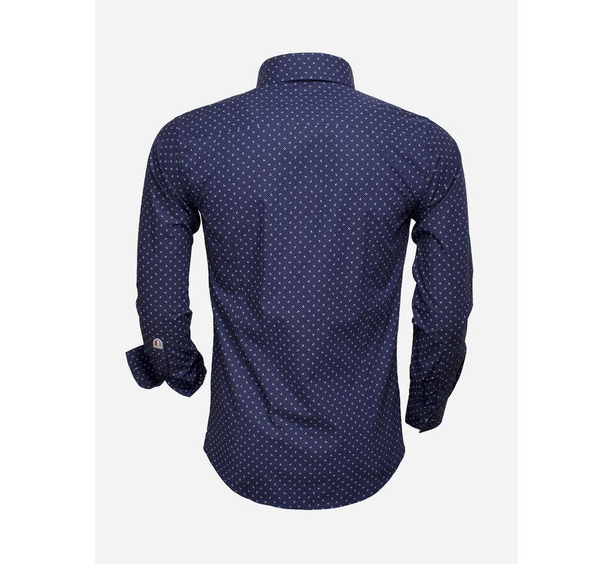 Overhemd Lange Mouw 85279 Navy Blue