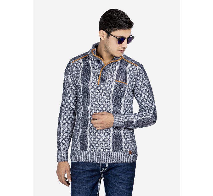 Sweater 67001 Coba White Navy