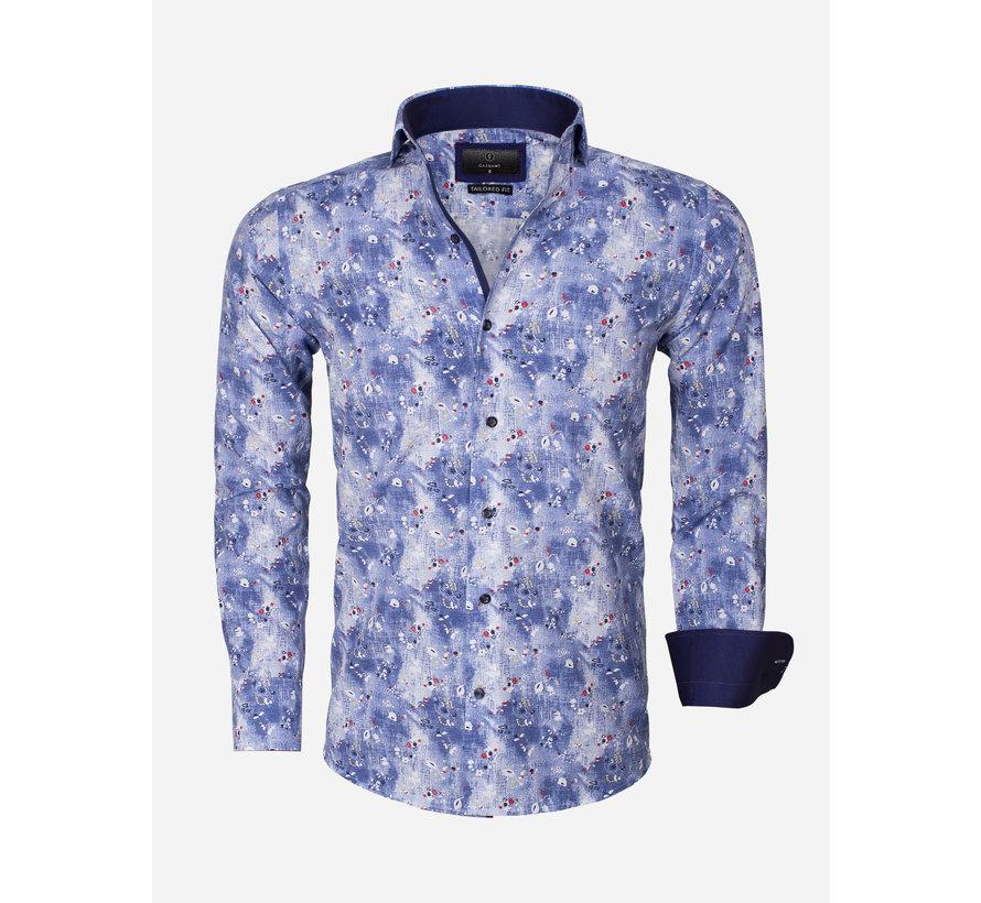 Overhemd Lange Mouw  65013 Dark Blue