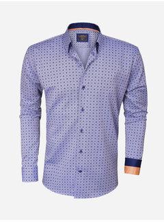 Wam Denim Overhemd  Lange Mouw 75273 Royal Blue