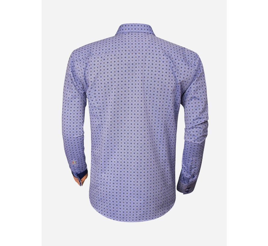 Overhemd  Lange Mouw 75273 Royal Blue