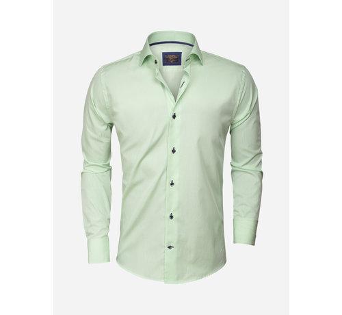 Wam Denim Overhemd  Lange Mouw75298 Green