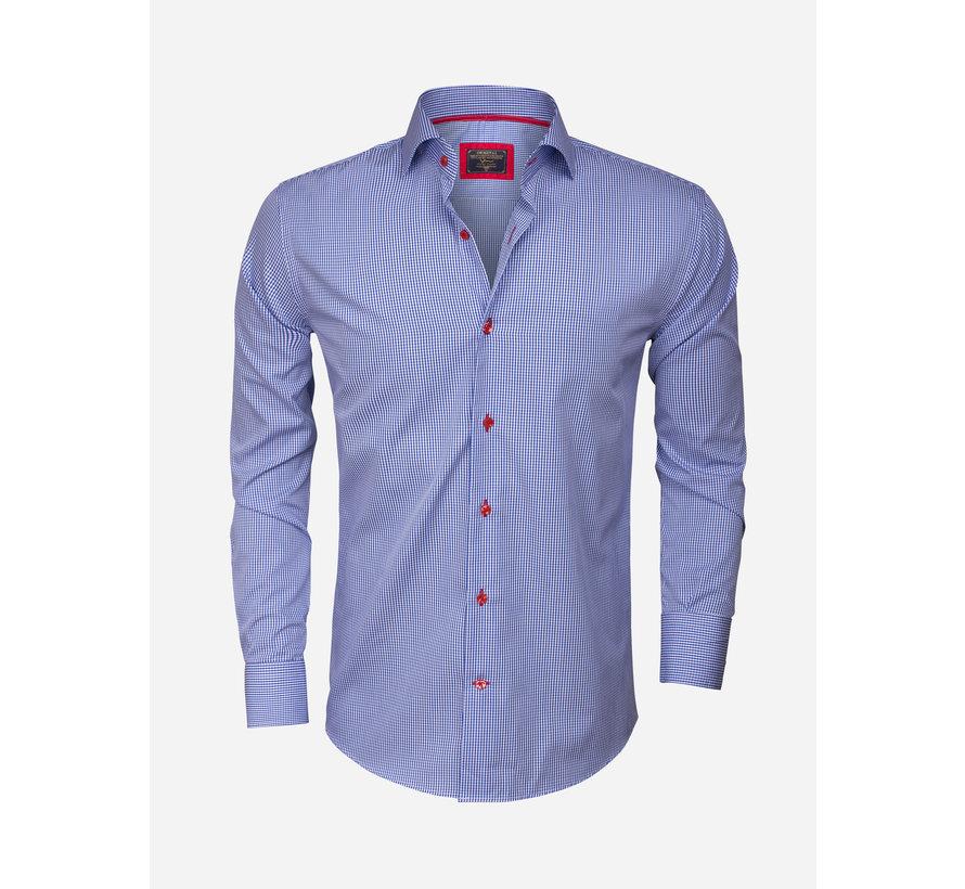 Overhemd  Lange Mouw 75298 ROYAL BLUE
