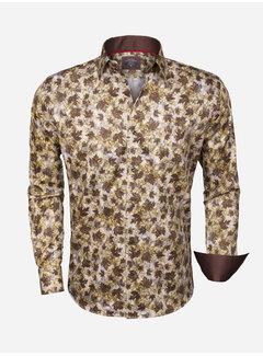 Wam Denim Overhemd Lange Mouw  75345 Brown