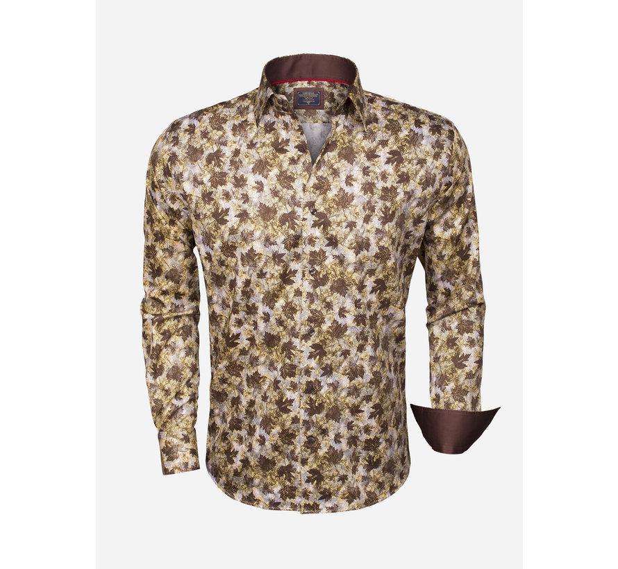 Shirt Langs Leeve 75345 Brown