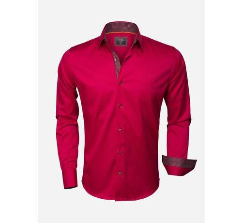 Wam Denim Overhemd Lange Mouw  75347 Dark Red
