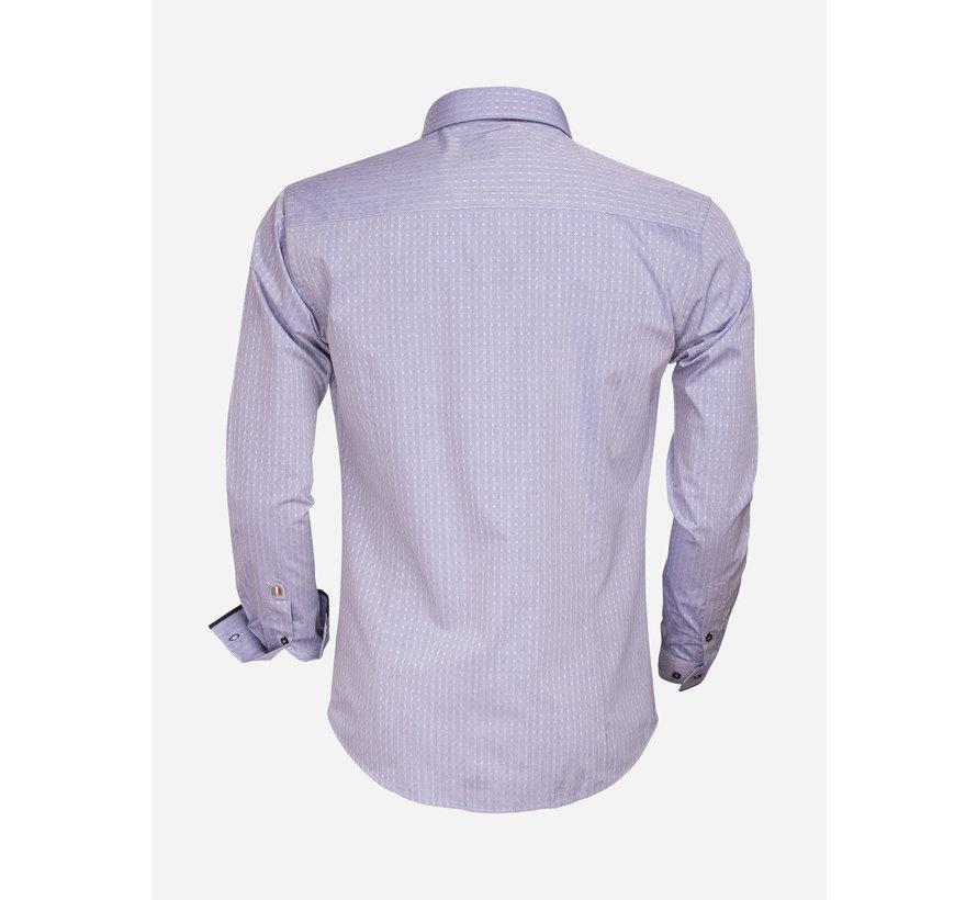 Overhemd Lange Mouw 75343 Dark Blue