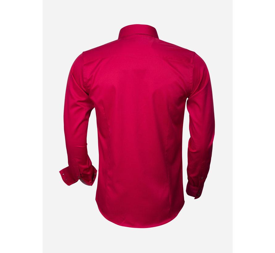 Overhemd Lange Mouw  75347 Dark Red