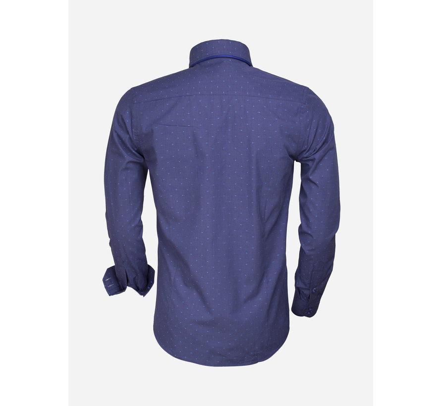 Overhemd Lange Mouw  75354 INDIGO