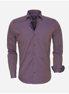 Wam Denim Overhemd Lange Mouw  75417 Brown