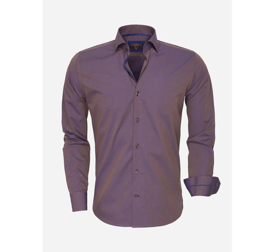 Shirt Langs Leeve 75417 Brown