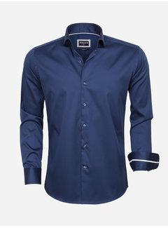 Wam Denim Overhemd Lange Mouw  75478 Navy