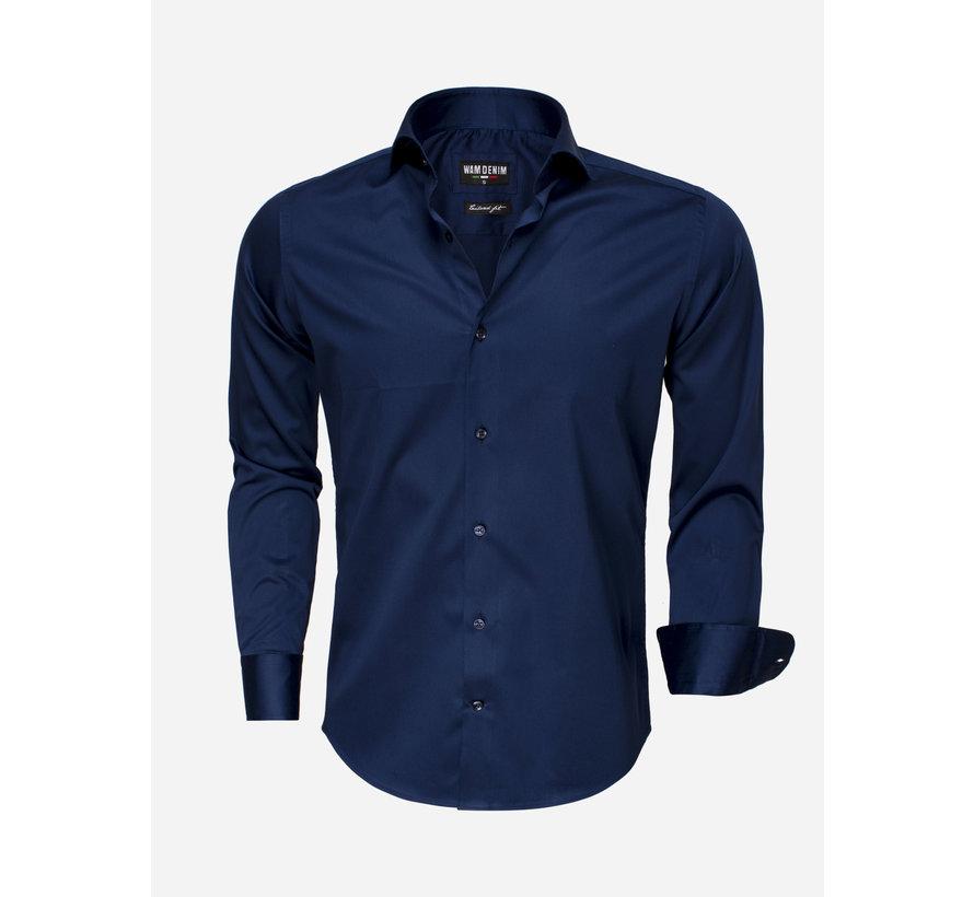 Shirt Langs Leeve 75496 Navy