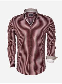 Arya Boy Overhemd  Lange Mouw 85266 Dark Red