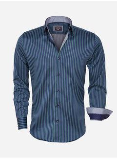 Arya Boy Overhemd Lange Mouw  85266 Navy Green