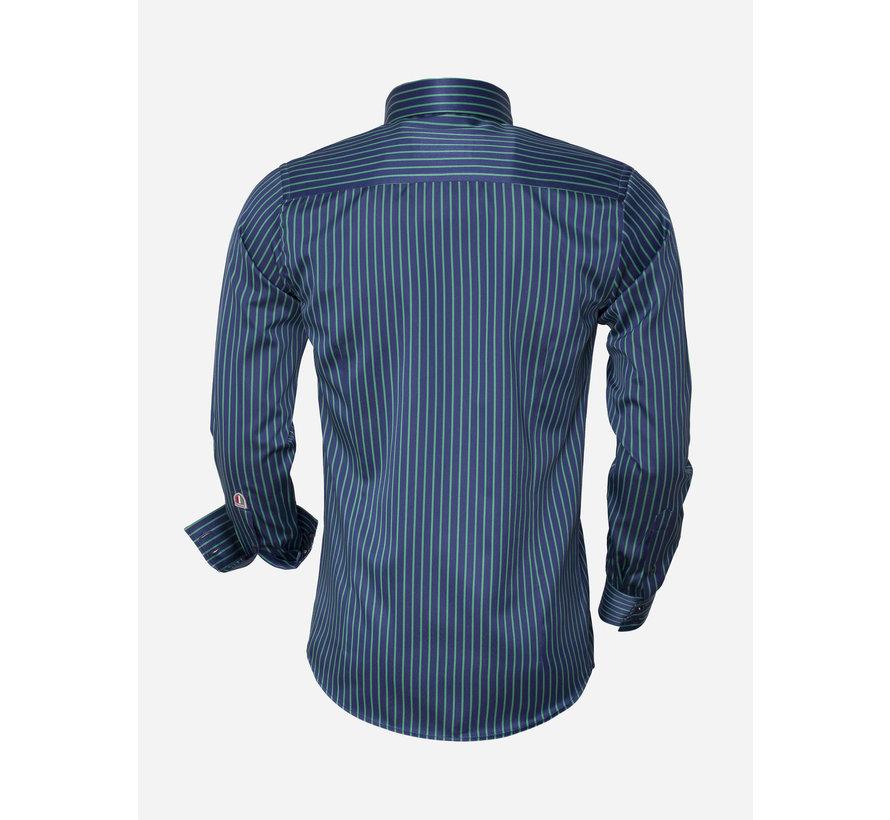 Shirt Langs Leeve  85266 Navy Green