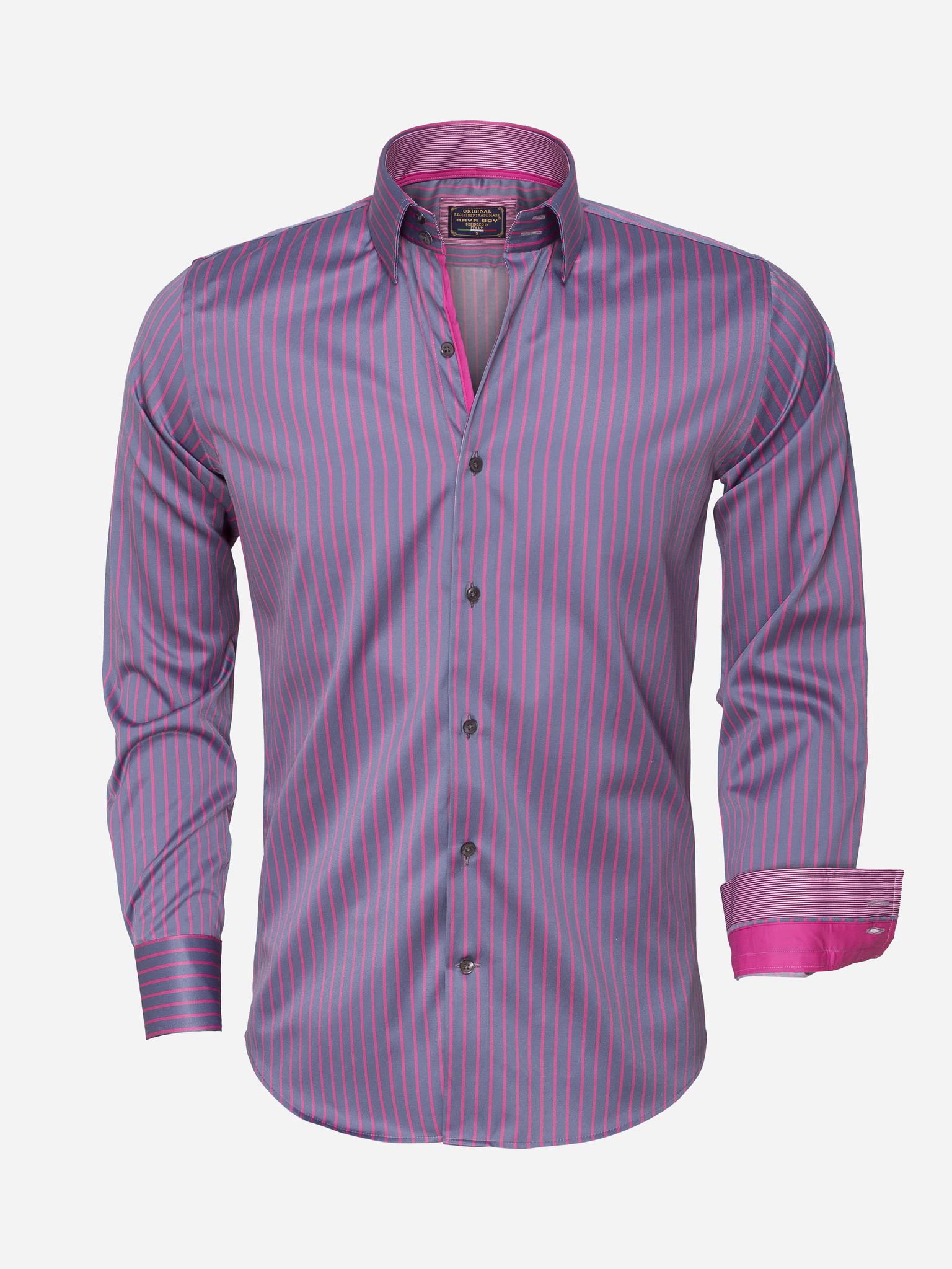 Arya Boy Overhemd Lange Mouw  85266 Steel Grey Maat: S
