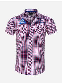 Arya Boy Overhemd Korte Mouw 85287 Mataro Red