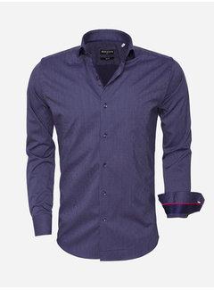 Wam Denim Shirt Long Sleeve 75466 Navy White
