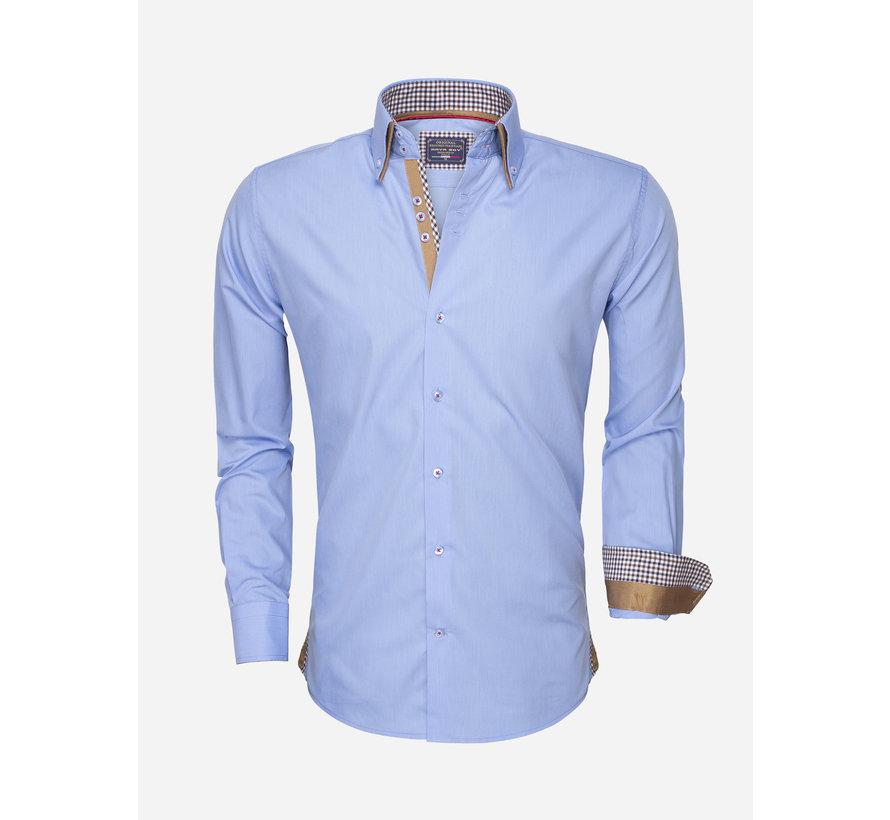 Overhemd Lange Mouw 85240 Dark Blue