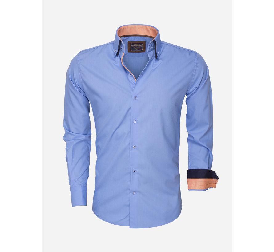 Overhemd Lange Mouw 85272 Blue