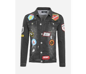 Arya Boy Denim Jacket  Parfaid Black