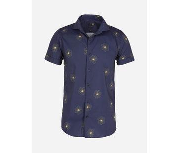 Arya Boy Overhemd Korte Mouw Lixa Navy Yellow