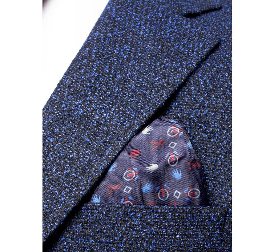 Jacket  74068 Black Royal Blue
