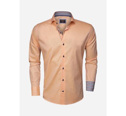 Wam Denim Overhemd Lange Mouw 75283 Light Orange