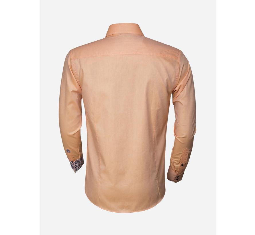 Overhemd Lange Mouw 75283 Light Orange