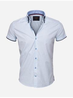 Wam Denim Overhemd Kort Mouw 75412 Light  Turquoise