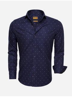 Wam Denim Overhemd Lange Mouw 75519 Dark Navy