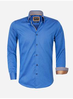 Wam Denim Overhemd Lange Mouw 75559 Isernia Petrol