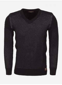 Wam Denim Sweater 77202 Black Grey