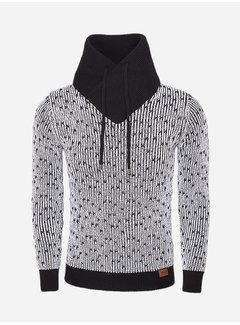 Wam Denim Sweater 77207 Black White