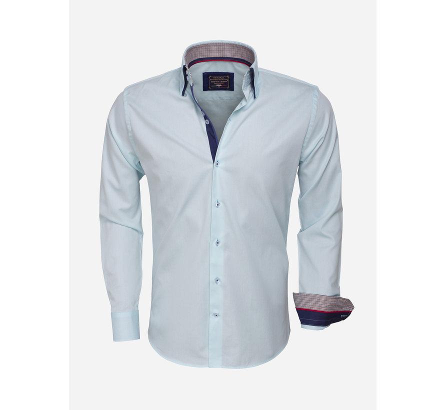 Overhemd  Lange Mouw 85253 Turquoise