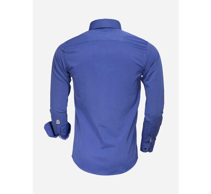 Overhemd Lange Mouw 85262 Light Navy