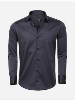 Arya Boy Overhemd  Lange Mouw 85283 Dark Anthracite